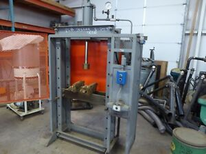 Hydraurlic H Frame Press About 35 Ton 5hp Power 230 3 Phase Government Surplus