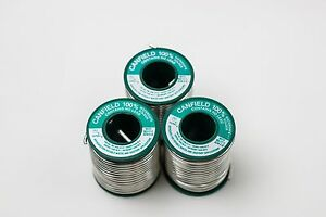 Silver Solder Plumbing Soldering Spool Copper Pipe Diy Watersafe Canfield 3 qty