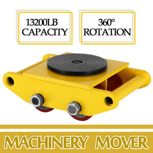 Heavy Duty Machine Dolly Skate Machinery Roller Mover Cargo Trolley 6 Ton New