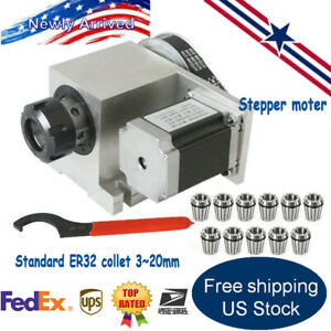 Hollow Shaft 4th Axis Cnc Rotational Router A Axis 11pcs Er32 Collet 3 20mm