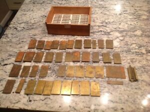 New Hermes Brass Engraving Plates 2 Letters On 2 3 4 Plate Uppercase Numbers