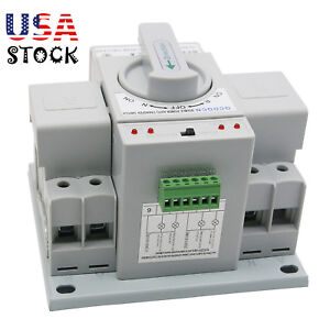 Dual Power Automatic Transfer Switch 2p 63a 220v 150 138 115mm Toggle Switch Us
