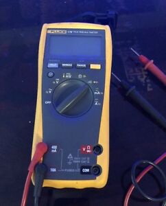 Fluke 179 True Rms Multimeter With Cables Clean Tested
