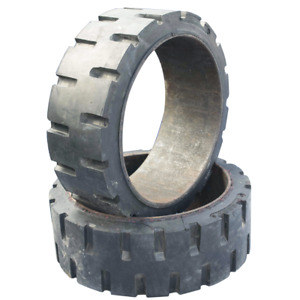 2 21x7x15 Tires High Rubber Used Solid Forklift Tires traction Set Of Two