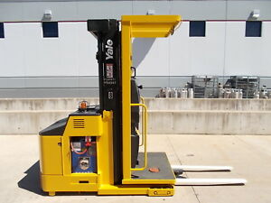 2007 Yale Os030ec Electric Order Selector Truck Narrow Aisle Picker Stand Up