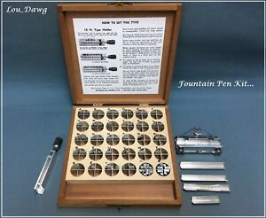 Kingsley Machine Type Fountain Pen Kit Hot Foil Stamping Machine