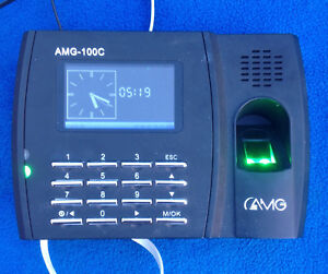 Amg Biometric Fingerprint Reader Employee Time Clock Model Amg 100c