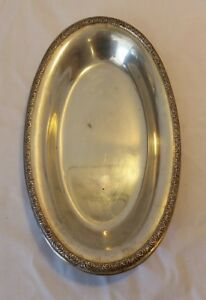 Prelude International Sterling Silver Tray J57 Serving Pickle Appetizer Vanity