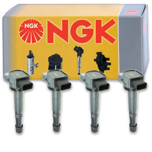 4 Pcs Ngk Ignition Coil For 2003 2007 Honda Accord 2 4l L4 Spark Plug Tune Zh