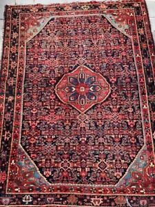Persian Rug Carpet Great Colors Hand Knotted Wool Red Blue Antique Oriental