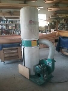 Grizzly Dust Collector 220 Volt 2 Horsepower 3450 Rpm 1 phase Motor Used