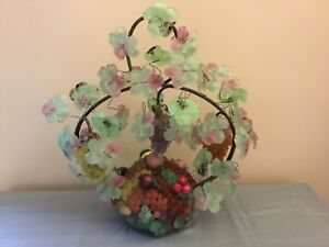 Vintage Art Nouveau Murano Art Glass Grape Cluster Fruit Basket Figural La