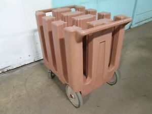 cambro Dc575 H d Commercial Plate Holder dispenser carrier Poly Cart caddy