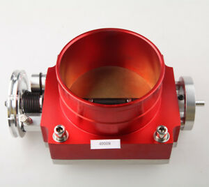 Universal 100mm Throttle Body For Nissan Cnc T6 Aluminum Red