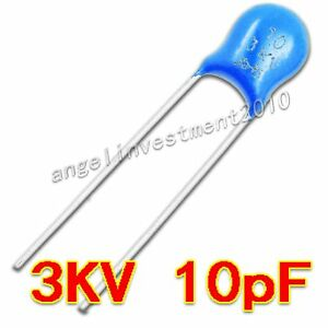 New High Voltage Ceramic Capacitor 3kv10j 3000v 10pf