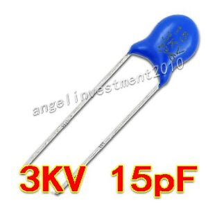 New High Voltage Ceramic Capacitor 3kv15j 3000v 15pf
