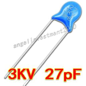 New High Voltage Ceramic Capacitor 3kv27j 3000v 27pf