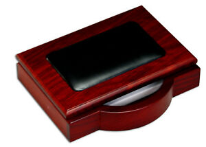 A8009 rosewood leather 4 x 6 memo holder
