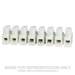 7 Position Euro Style Terminal Block Panel Mount 8mm 20a 600v 20 12 Awg 100 Pack