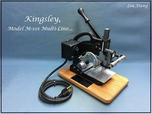 Kingsley Machine Model M 101 Multi line Hot Foil Stamping Machine