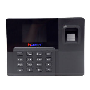 A9 2 8 Tft Attendance Machine Fingerprint Biometric Clock Reader Password De