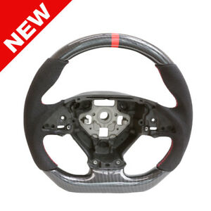 Handkraftd 2014 Chevrolet Corvette Steering Wheel Carbon Alcantara Red Stitch