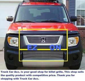 For 2003 2004 2005 2006 Honda Element Billet Grille Grill Combo Inserts