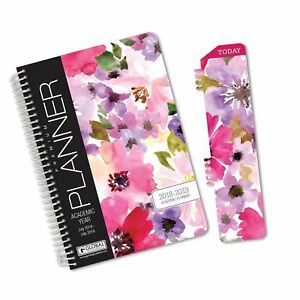 Hardcover Academic Year Planner 2018 2019 5 5 x8 Daily P Free 2 Day Ship