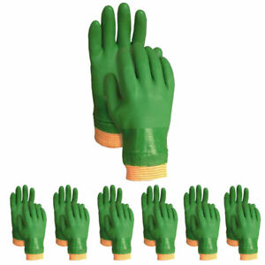 Atlas Atl600l Vinylove 600 Dipped Pvc Large L Green Work Gloves 12 pairs