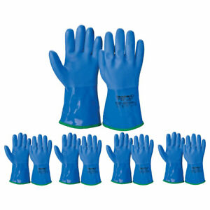 Atlas Atl495 Showa Pvc Dipped Insulated Protective Large Work Gloves 12 pairs