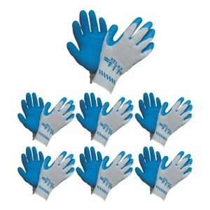 Atlas Fit 300 Showa Latex Palm dipped Blue Medium Rubber Work Gloves 12 pairs