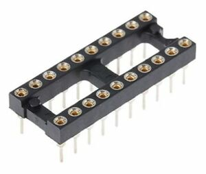 E tec 2 54mm Pitch Vertical 20 Way Through Hole Turned Pin Open Frame Ic Dip So