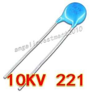 New High Voltage Ceramic Capacitor 10kv221 10000v 220pf