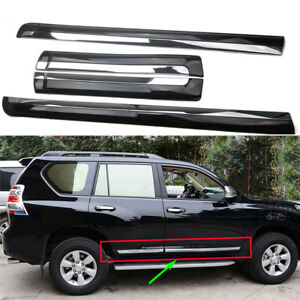 Abs Car Body Door Side Molding Cover Trim For 14 2018 Toyota Land Cruiser Lc200