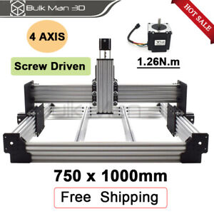 750 1000mm Workbee Cnc Router Machine Kit 4 Axis Diy Cnc Milling Engraver
