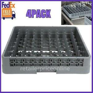 4 Pack Full Size Commercial Restaurant Dishwasher Machine Cup Peg Tray Rack