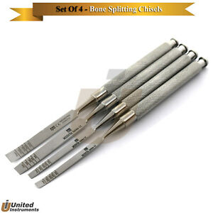 Dental Implant Bone Chisels Staright curved Surgical Bone Preparing Extraction