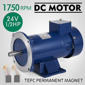 Dc Motor 1 2hp 56c Frame 24v 1750rpm Tefc Magnet Dominate Grease Generally