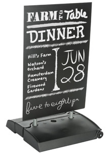Rolling Double Sided 24 X 36 Write on Outdoor Pavement Sign W Fillable Base
