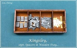 Kingsley Machine 18pt Spacers Wooden Tray Hot Foil Stamping Machine