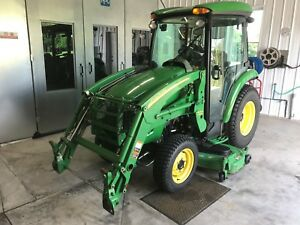John Deere Tractor 3520 Cab With Loader Mower