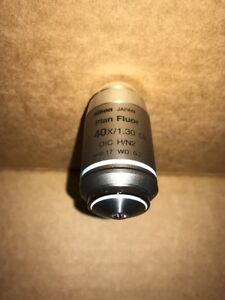 Nikon Plan Fluor 40x Oil Dic H n2 Eclipse Microscope Objective