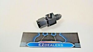 Gauge Pressure Oil Fuel Inline Adapter Fitting 4an Female To Male Black Oil