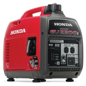 Honda Eu2200i 2200 watt 120 volt Super Quiet Portable Inverter Generator