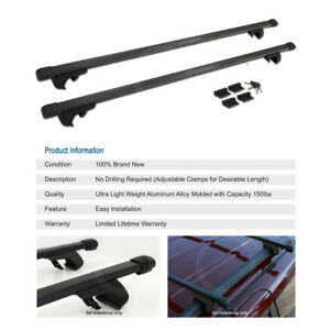 48 Cross Bars Rail Tower Roof Top Rack Cargo Carrier Keylock Set For Jeep