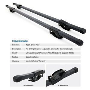 54 Square Cross Bars Rail Tower Roof Top Rack Cargo Carrier Travel Kit For Jeep