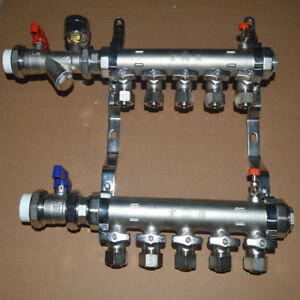 5 branch Pex Radiant Floor Heating Manifold Set