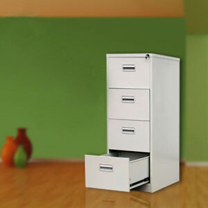 Office White 22 Deep 4 drawer Vertical File Cabinet 4 Drawer Filing Cabinet New