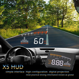 Universal Gps Car Hud Projector Head Up Display Speed Warning Fuel Obdii Eobd