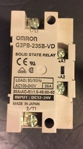 new Omron G3pb 235b vd Ac100 240v Module Solid State Relay Mount no Box